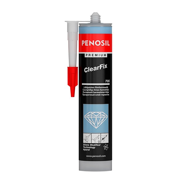 PENOSIL Hybrid Adhesive - Premium ClearFix 705 290 ml Sealant, Transparent