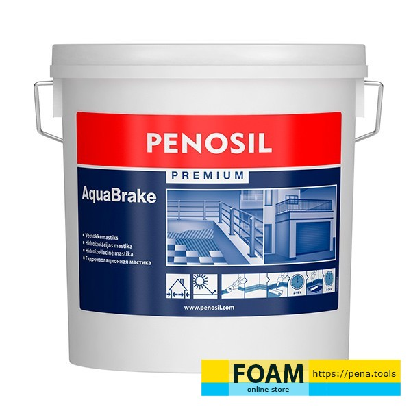 PENOSIL Waterproofing mastic for indoor and outdoor use Premium AquaBrake 3 l